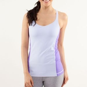 Lululemon Free To Be Tank  Cool Breeze / Power Pur